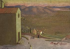 Italian landscape (view) of Cortona