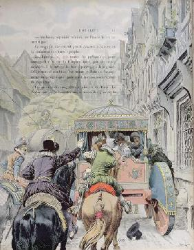 Assassination of Henri IV by Francois Ravaillac in the rue de la Ferronerie on 14th May 1610, c.1900