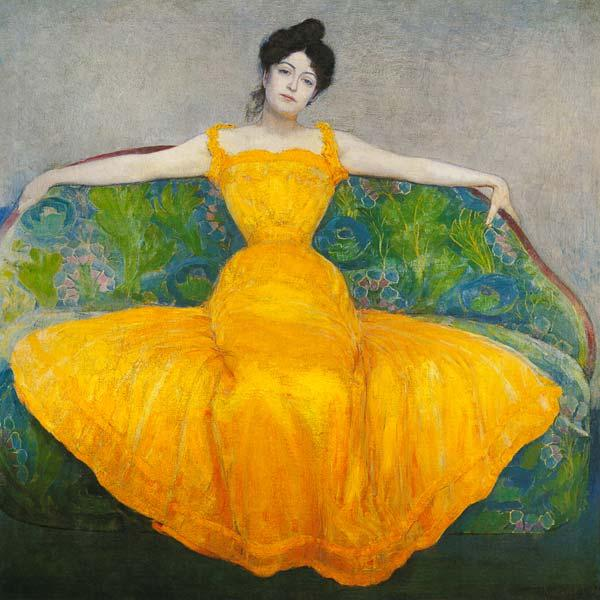 Kurzweil, Max : Lady in a yellow Dress