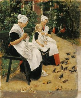 Amsterdam Orphans in the Garden, 1885 (oil on canvas)