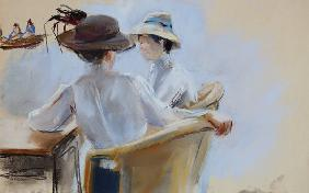Liebermann, Max : Two Ladies by the Water (p...