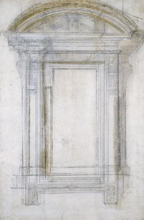 (Buonarroti), Michelangelo : Study of a Window with a s...