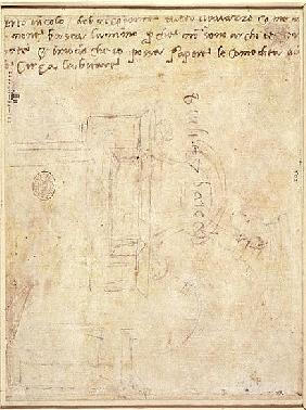 Architectural Study with Notes  (for recto see 191771)