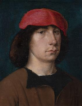 A Young Man in a Red Cap