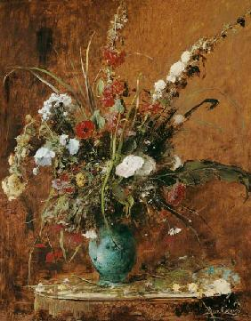 Munk�csy, Mih�ly : Flower still life