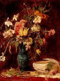 Flower still life with bowl