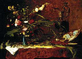 Munk�csy, Mih�ly : Great flower still life