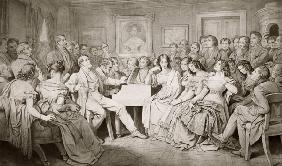 An Evening at Baron von Spaun's: Schubert at the piano among his friends