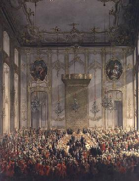 Court Banquet in the Great Antechamber of the Hofburg Palace, Vienna