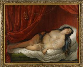 An odalisque in red interior