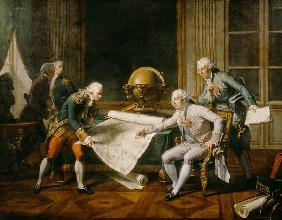 Louis XVI (1754-93) Giving Instructions to La Perouse, 29th June 1785