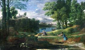 Landscape with a Man killed by a Snake, c.1648