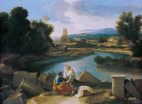 Landscape with the evangelist Matthäus