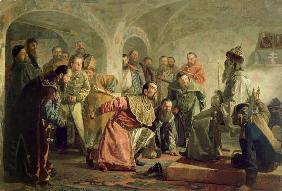 The Oprichnina at the Court of Ivan IV (1530-84) (oil on canvas)