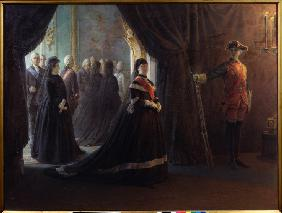 Catherine II at the Coffin of Empress Elizabeth