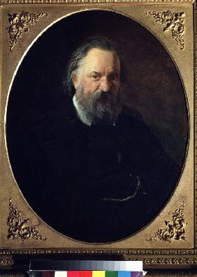 Portrait of the author Alexander Herzen (1812-1870)