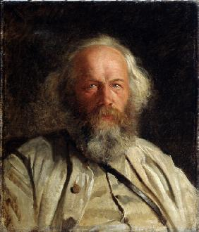 Portrait of the theorist of anarchism Mikhail A. Bakunin (1814-1876)