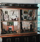 English Doll's House with original contents and wallpaper, c.1800