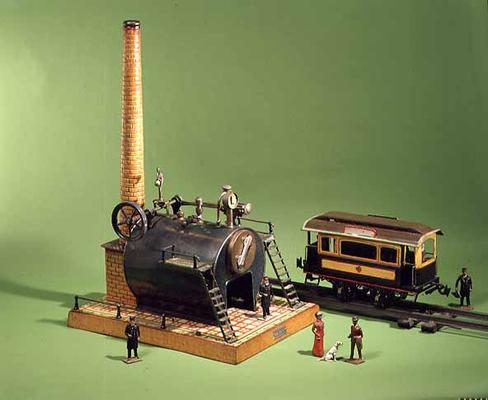 Image:  - 31:Bing stationary steam engine, c.1902; Carette street car, c.1904
