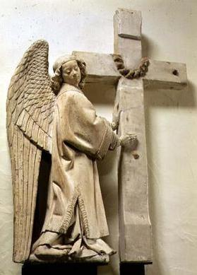 Angel holding a Large Crucifix (plaster)