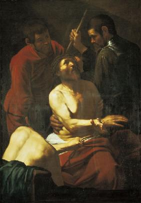 Caravaggio /Crowning with Thorns/ 1602/3