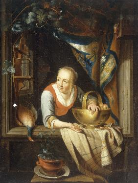 Dutch School, A young Woman.