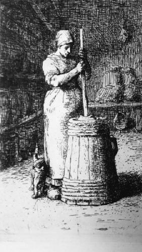 François Millet / At the Butter Churn