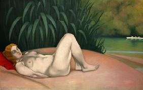F.Vallotton / Nude by River Bank / 1921