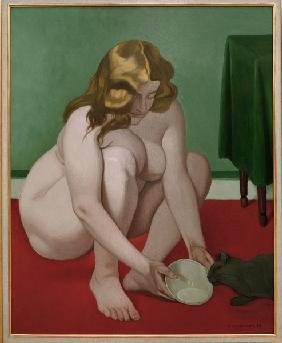 F.Vallotton / Woman with Cat / 1919