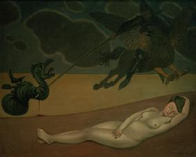 F.Vallotton, Ruggero frees Angelica.