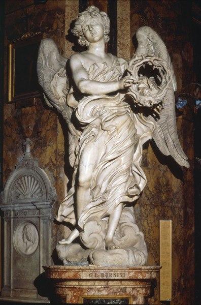 Giovanni Lorenzo Bernini Glbernini__angel_wtcrown_of_th