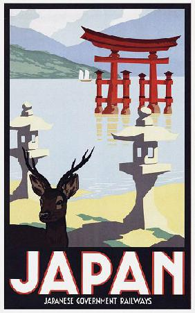 Japan: Advertising poster for Japanese Government Railways