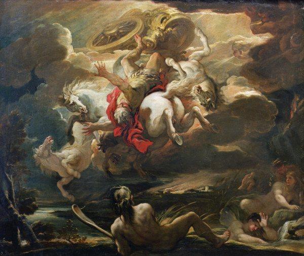 L Giordano The Fall Of Phaeton Luca Giordano As Art