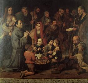 Murillo / St. Diego of Alcala, feeding