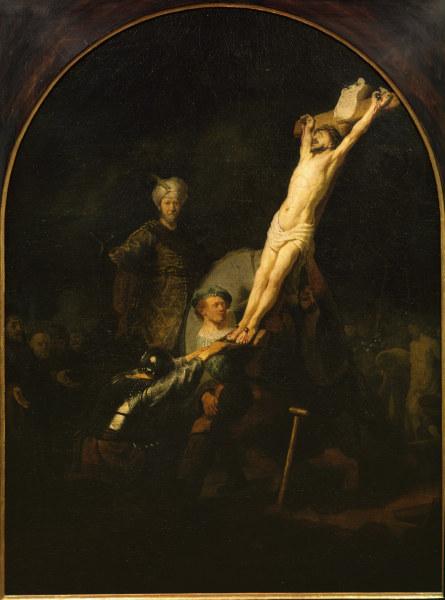 Rembrandt Erection Of The Cross Rembrandt Van Rijn As