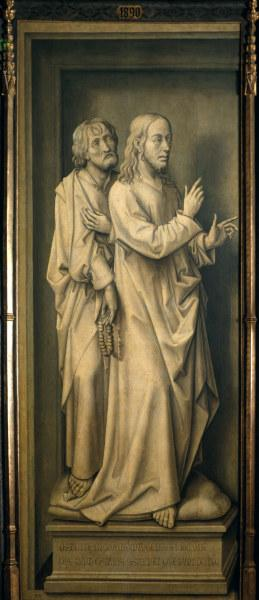 Rogier v.d.Weyden, Christ and Disciples