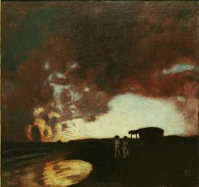 Stuck / Sunset at the sea / 1900