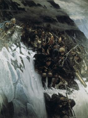 Suvorov crosses Alps / Surikov Painting
