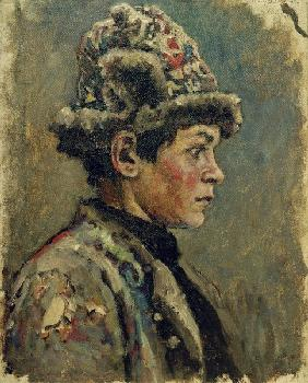 V.I.Surikov, Study of the Head of a Boy