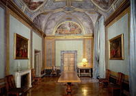 View of the 'Camerino' with frescoes by Annibale Carracci (1560-1609) 1596 (photo)