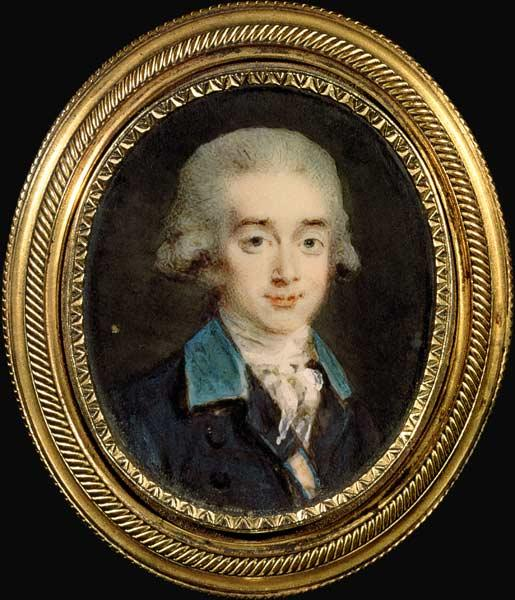 Portrait miniature of Count Hans Axel von Fersen (1755-1810)