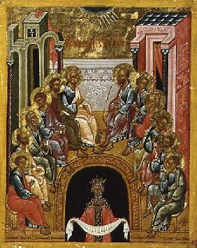 The Descent of the Holy Spirit, Russian icon from the Cathedral of St. Sophia