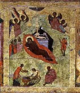 The Nativity of Our Lord, Russian icon from the iconostasis in the Cathedral of St. Sophia