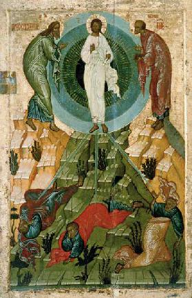 The Transfiguration of Our Lord, Russian icon from the Holy Theotokos Dormition Church on the Voloto
