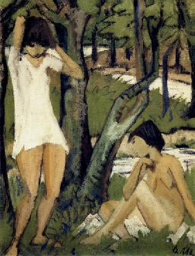 Two bathing girls