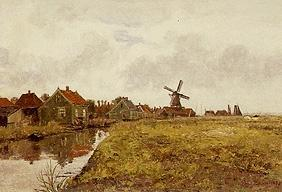 Paul Baum - Zaanstreek (houses at the channel)