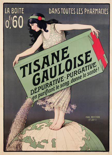 Poster advertising Tisane Gauloise, printed by Chaix, Paris