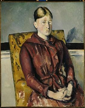 Madame Cezanne with a Yellow Armchair, 1888-90