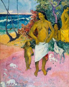A Walk by the Sea, or Tahitian Family