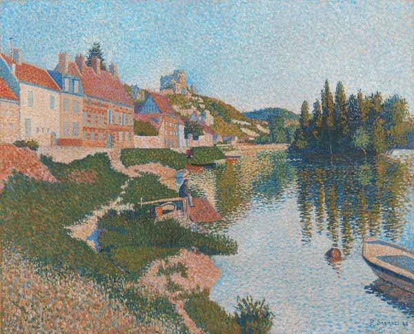 The River Bank, Petit-Andely, 1886 (oil on canvas)